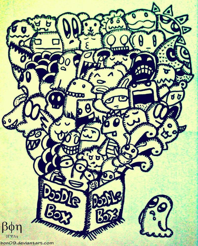 Cute Doodle Monsters Doodle