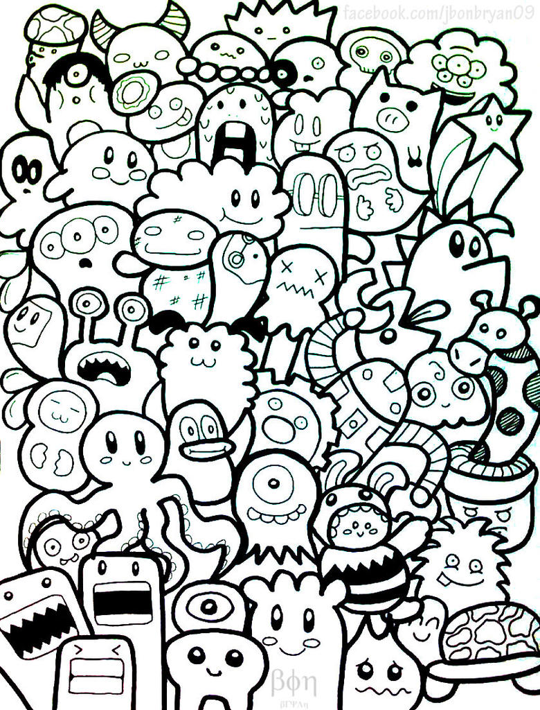 Cute Doodle Monsters Cute Monster Doodles