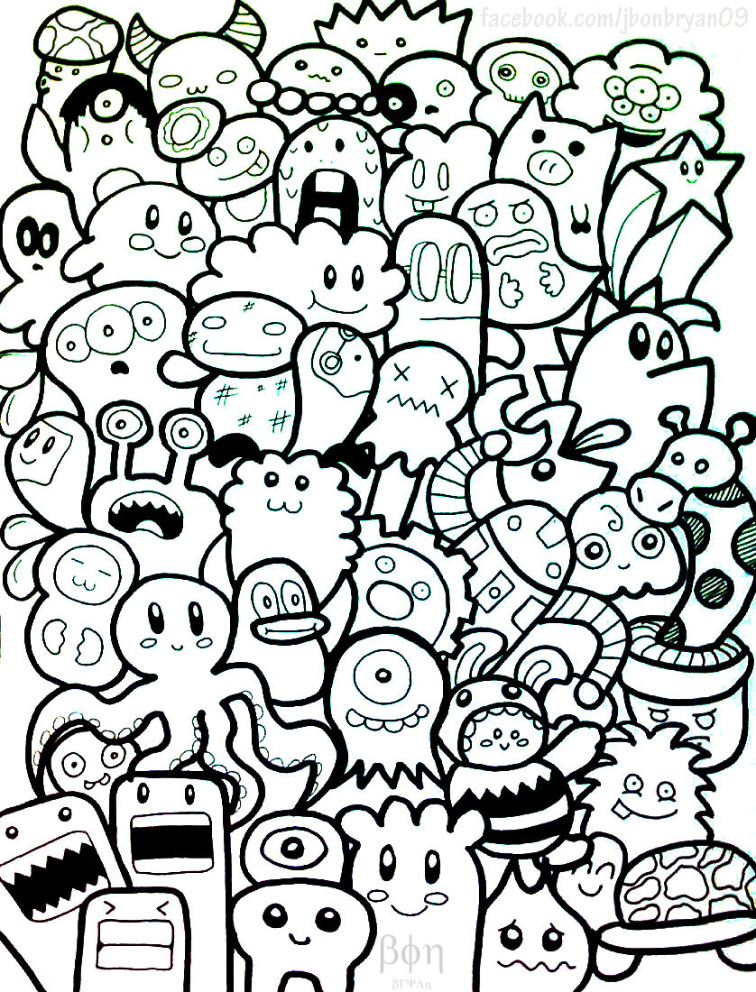 doodles cute doodle drawings monsters monster kawaii characters draw easy google charecters simple creatures deviantart pages mos kid