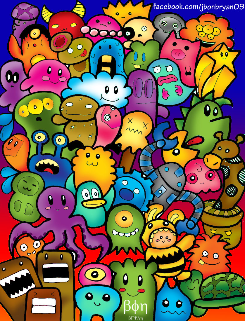 Colorful Doodles Drawings Images amp Pictures Becuo