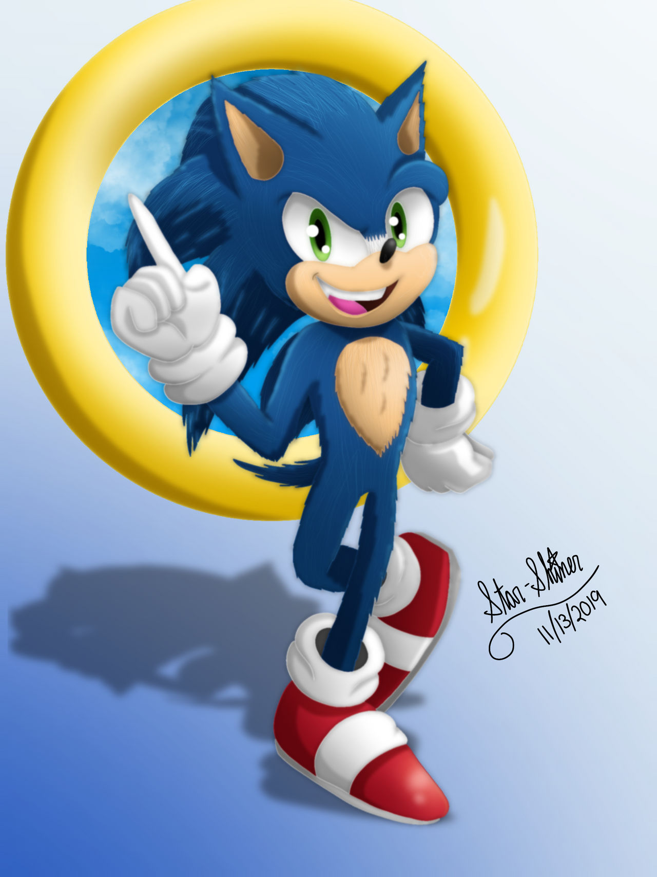 Movie Sonic By Star Shiner On Deviantart