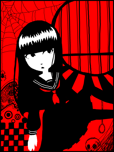 Crveno ... - Page 6 Tegaki__emily_the_strange_by_isuzu9-d2zbd40