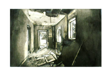 Colthrop Cottage Interior II by BenjeenoShakkaho