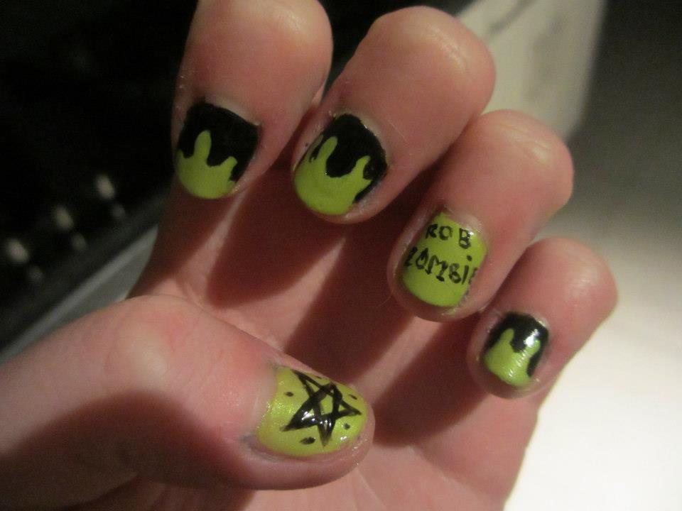 Rob Zombie Nailart by Brennie-Chan ... - Rob Zombie Nailart By Brennie-Chan On DeviantArt