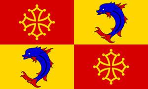 Flag of Occitan Dauphiny (Daufinat)