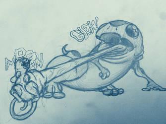 Big Ol' Salamander Eats a Cat