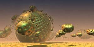 MandelBot Invasion.... by MarkJayBee