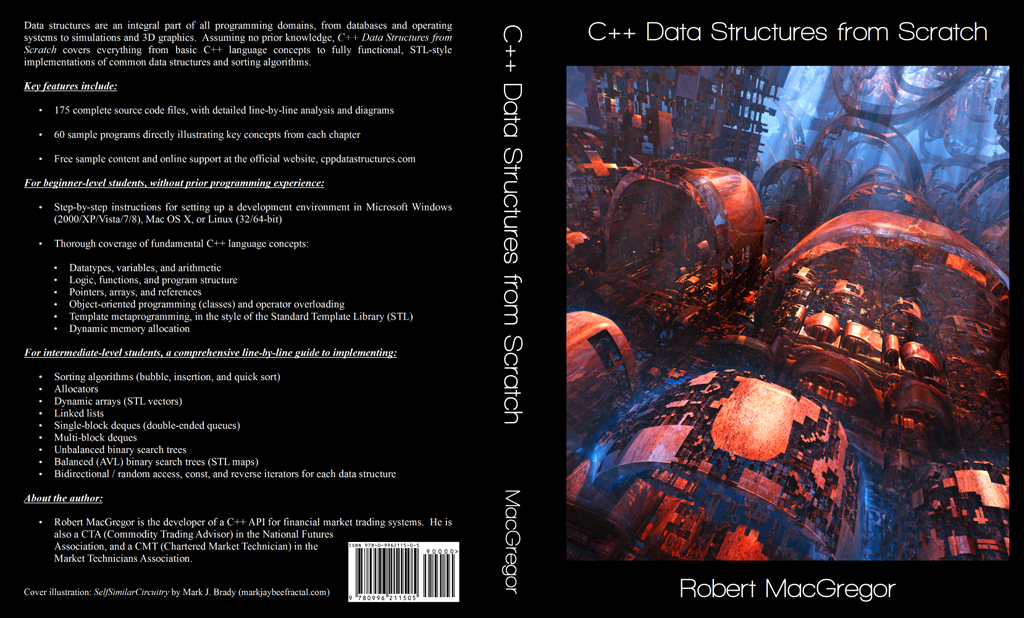 'C++ Data Structures from Scratch' Book Jacket Art by MarkJayBee