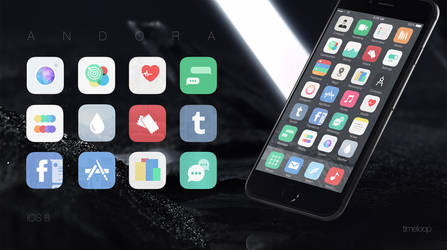 Andora theme for iOS 8 - out!