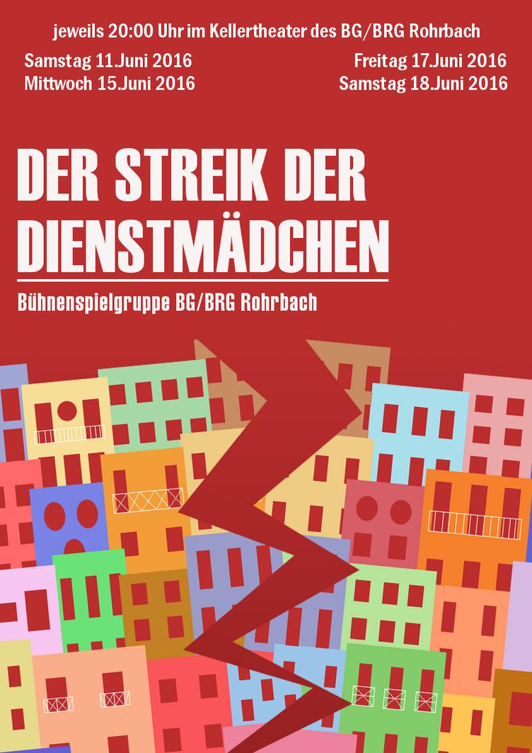 Theatre Poster 'Der Streik der Dienstmaedchen' by TehLookingGlass