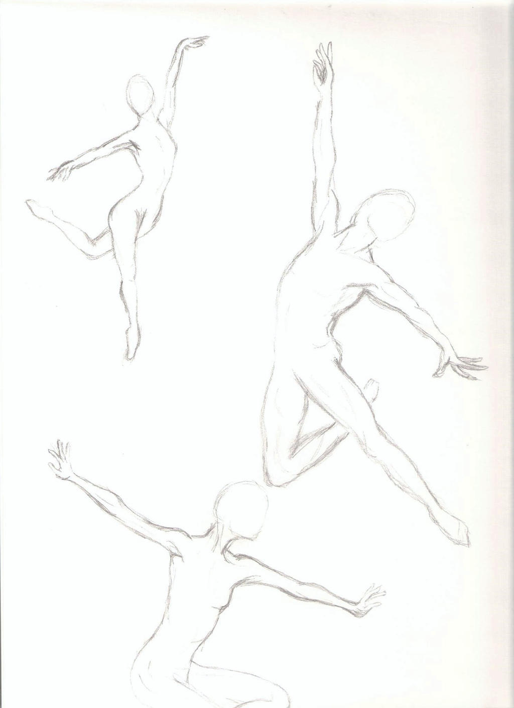 Anatomy Practice - Ballet Dancers by TehLookingGlass on DeviantArt