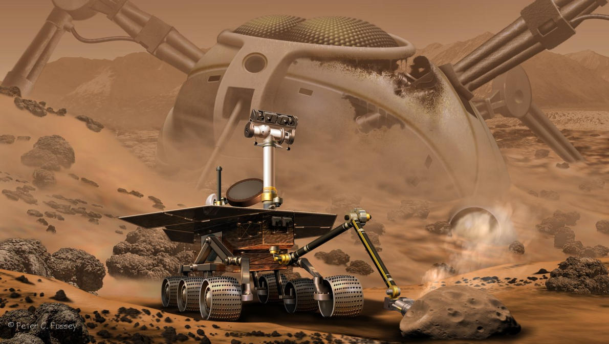 The search for life on mars by lonesome crow