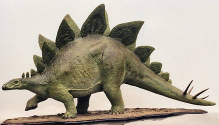 Papier Mache STEGOSAURUS 1995 by Lonesome--Crow
