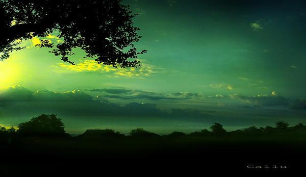 Green Sky II by Callu