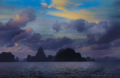 Dusk Over The Waters by Callu