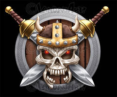 Viking Skull by LandonLArmstrong