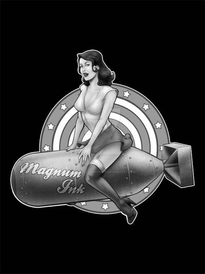 Magnum Ink Pinup by LandonLArmstrong