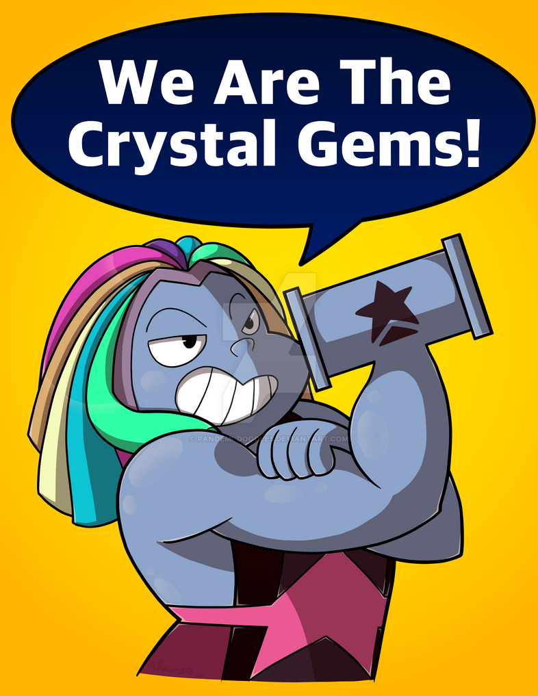 This is my wife, Bismuth.  She's strong and important and I love her. You could say that she... shatters the competition!  Tumblr:  pandemi-doodles.tumblr.com/pos… RedBu...