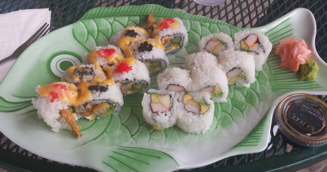 American Dream specialty rolls w/ California