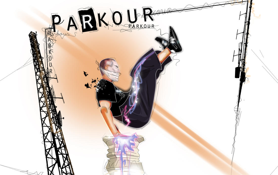 Parkour Photomanipulation by Marczsewski