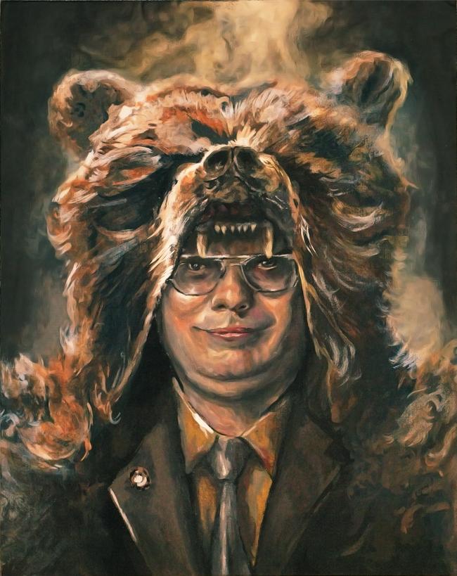 Dwight Acrylic Progress