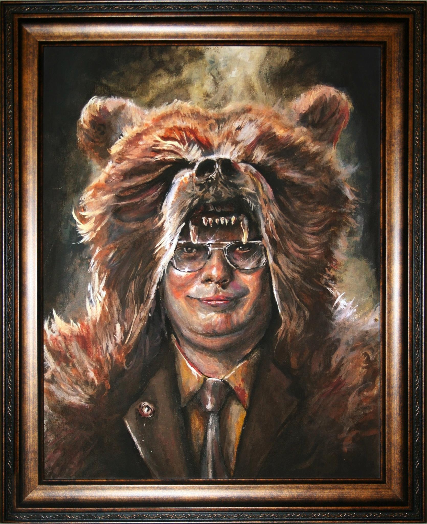 Dwight Schrute Painting Progress 2 by Marczsewski