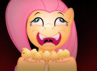 Fluttershy digs chicks by MisterDavey