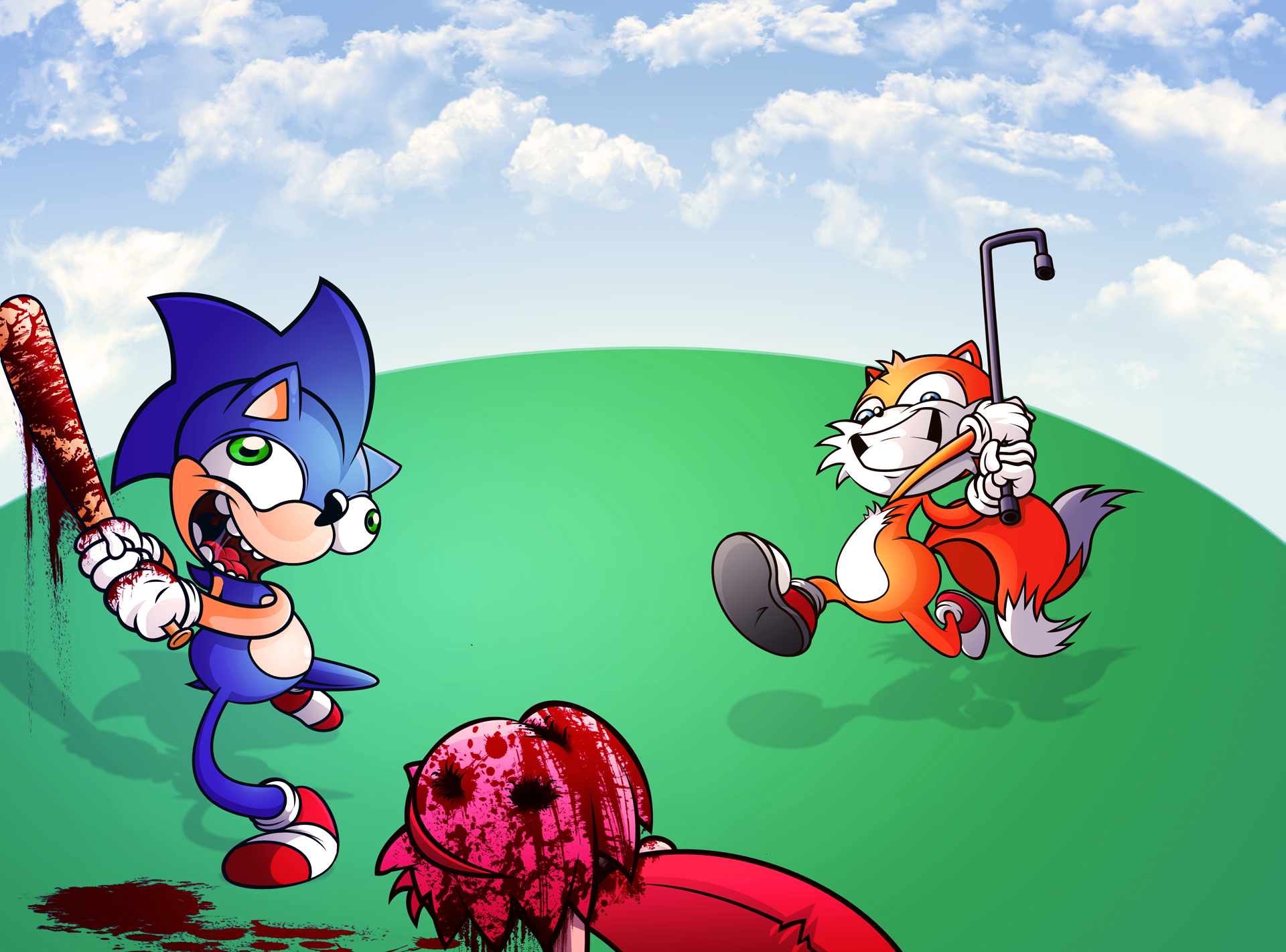 Amy Off Of Sonic sonic and tails hitting on amymisterdavey on deviantart