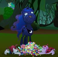 Luna likes her candy by MisterDavey