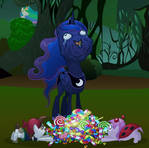Luna likes her candy
