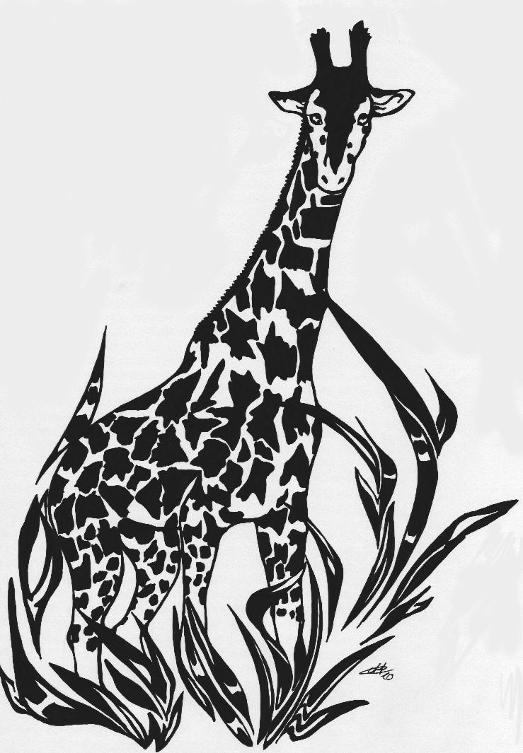 Tribal giraffe tattoo - photo#19