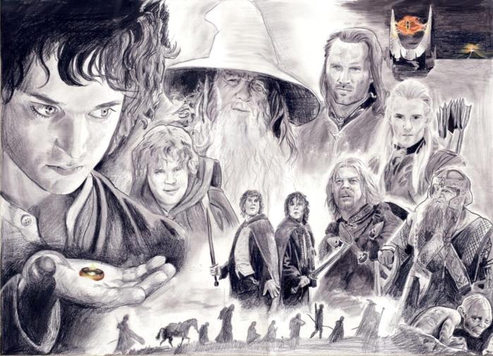 dibujos - dibujos de carteles de la pelicula Fellowship_of_the_Ring_by_ursus327
