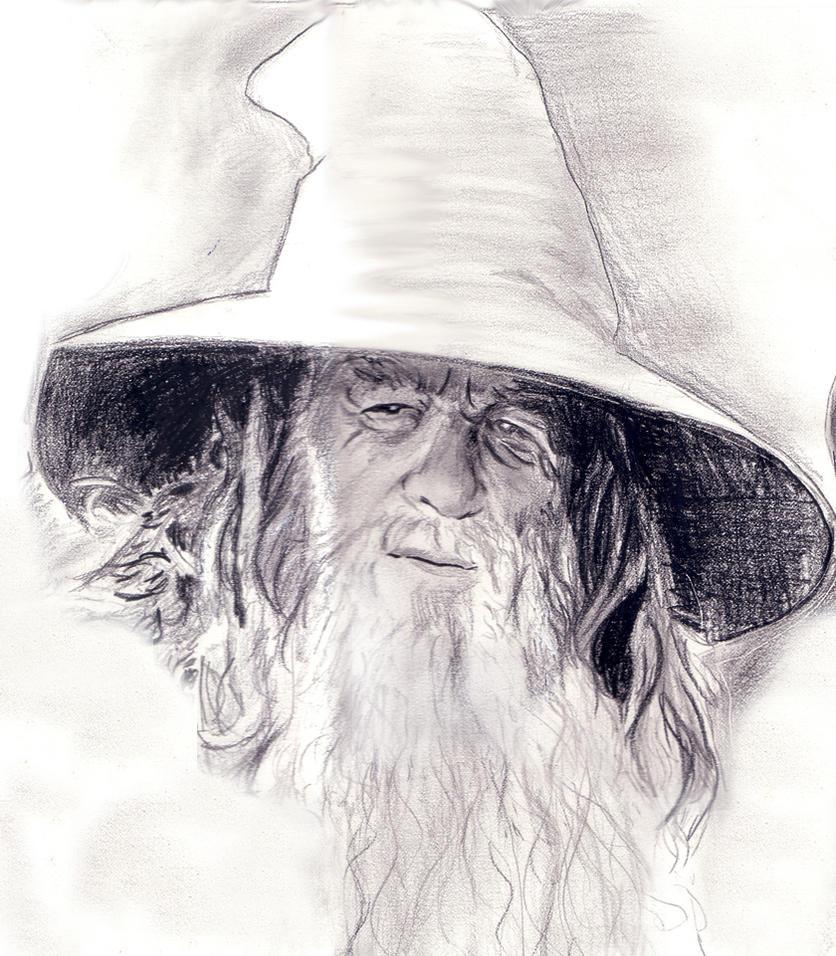 dibujos - dibujos de carteles de la pelicula Fellowship_Closeup___Gandalf_by_ursus327