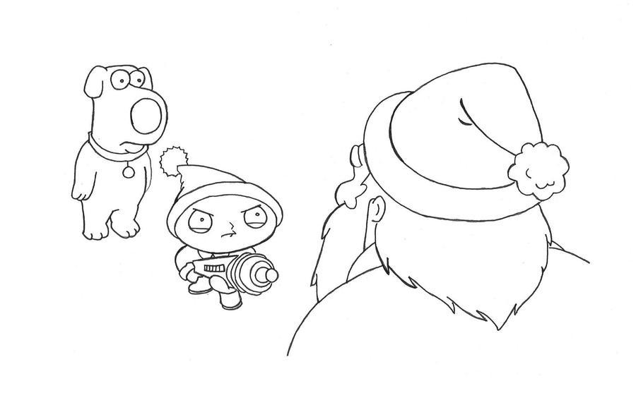 Family Guy: Brian + Stewie Inked by Blaze-Belushi