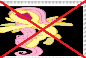 Anti fluttershy stamp by brutallightsparcake