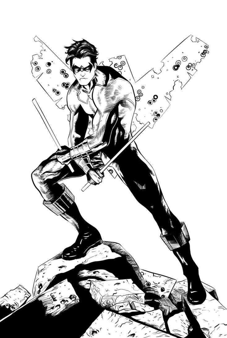 Nightwing Inks by yurixmeister