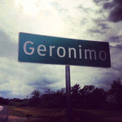 Passing through Geronimo, Texas