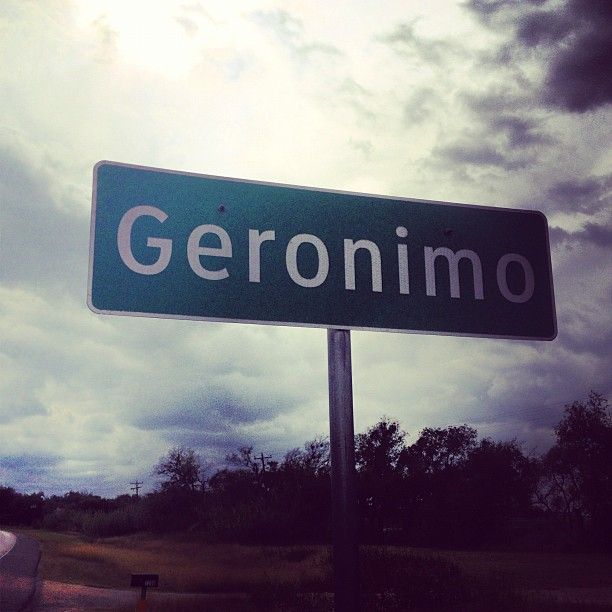 Passing through Geronimo, Texas by feariedaisy
