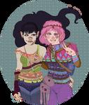 Marceline and Bubblegum Hardcore Psychedelic
