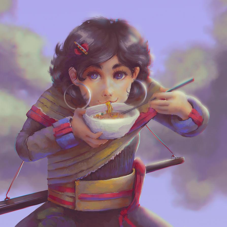 Yummy Noodle Soup by Narasura-of-Kashi