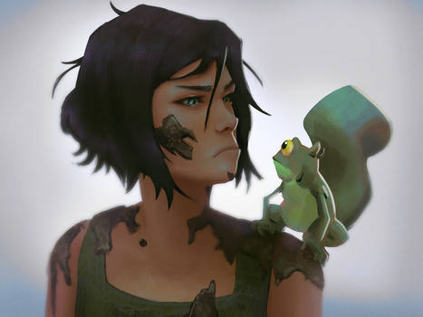 Korra and Frog