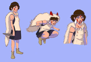 Princess Mononoke Character Sheet by Narasura-of-Kashi