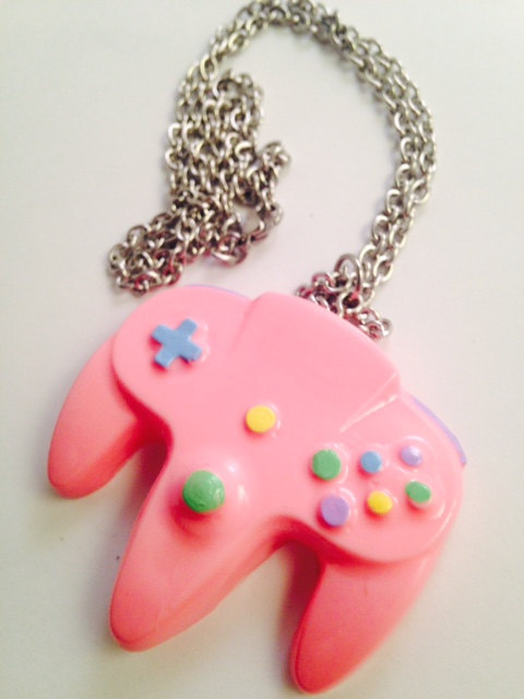 Pastel n64 controller necklace pendant by pixel armada on deviantart pastel n64 controller necklace pendant by pixel armada aloadofball Choice Image