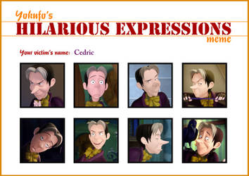 Hilarious Cedric Expressions Meme by ChikoritaLuv