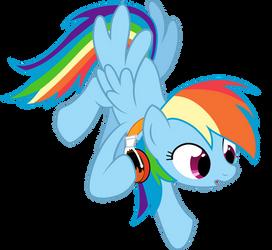 Rainbow Dash's Flaming Headphones
