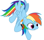 Rainbow Dash's Flaming Headphones