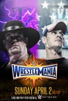 WWE WRESTLEMANIA 33 Poster by CRISPY6664