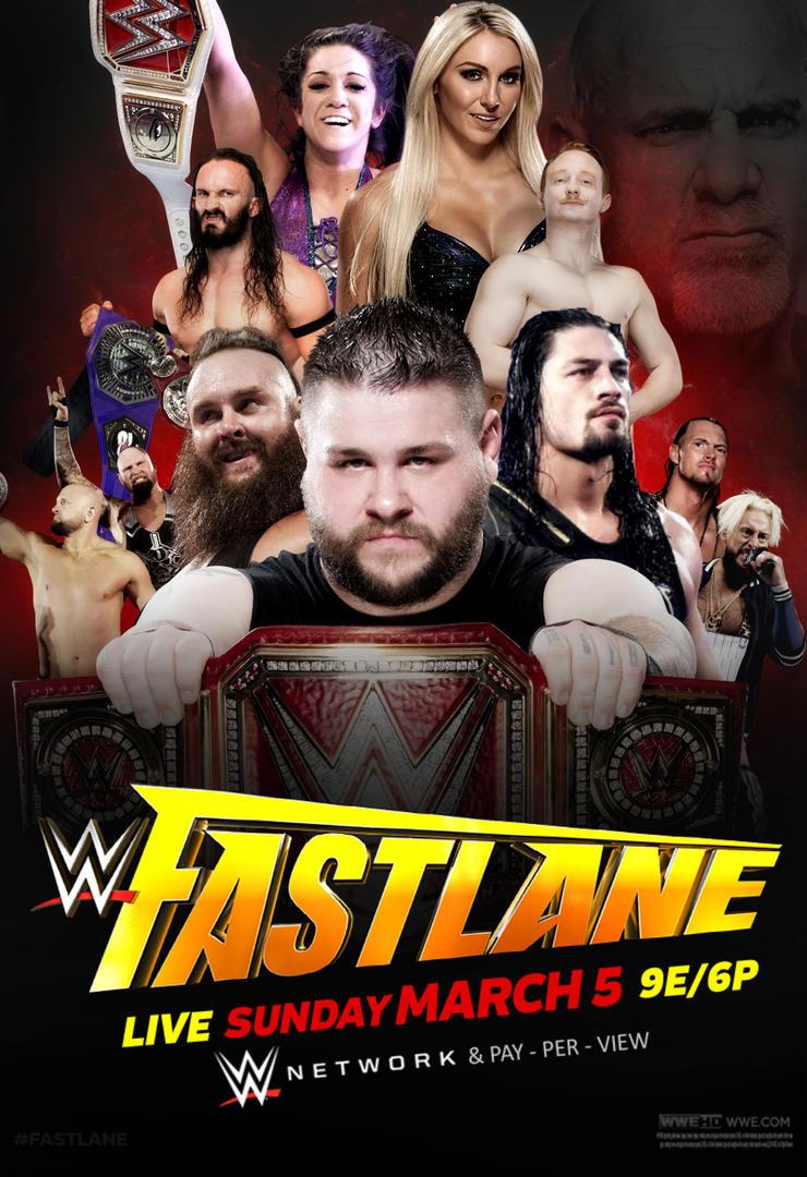 WWE Fastlane 2017 Poster by CRISPY6664