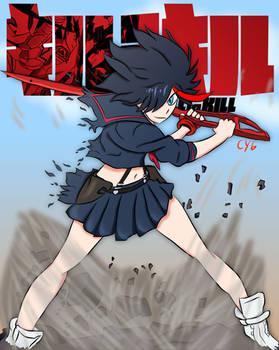 Kill la Kill Ryuko Matoi - Redraw
