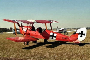 DH Tiger Moth in Red Baron paintwork Bowral by JBG666